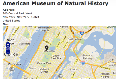 American museum of Natural History map
